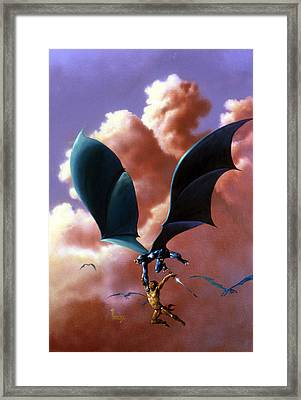 Flight Framed Print by Richard Hescox