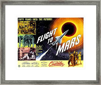 Flight To Mars, 1951 Framed Print