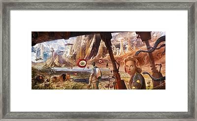 Flight To Venus Original Painting Framed Print