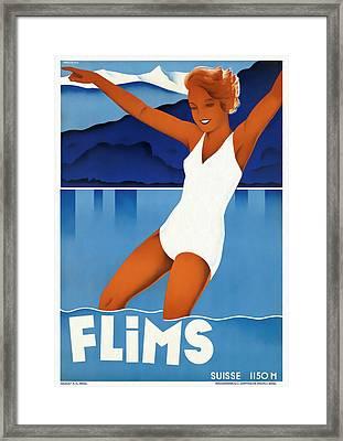 Flims - Switzerland - Restored Framed Print