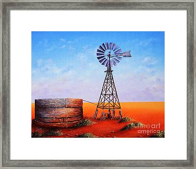 Flinders In A Frame Framed Print by Luna Vermeulen