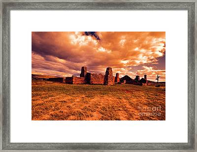 Framed Print featuring the photograph Flinders Ranges Ruins by Douglas Barnard
