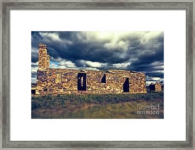 Framed Print featuring the photograph Flinders Ranges Ruins V2 by Douglas Barnard