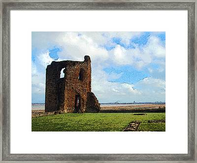 Flint Castle 2 Framed Print by Brainwave Pictures