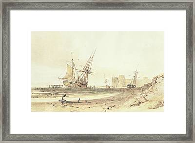 Flint Castle, Wales Framed Print by Joseph Mallord William Turner