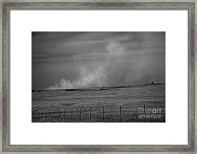 Flint Hills Burning Framed Print by Fred Lassmann