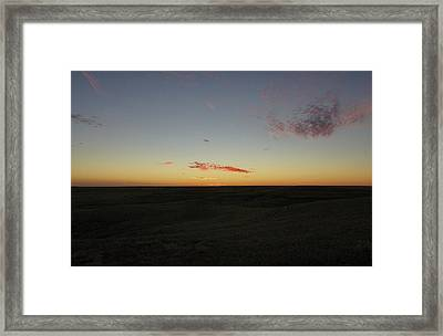 Framed Print featuring the photograph Flint Hills Dusk by Thomas Bomstad