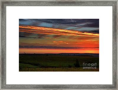 Framed Print featuring the photograph Flint Hills Sunrise by Thomas Bomstad