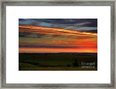 Flint Hills Sunrise Framed Print