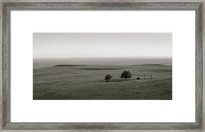Framed Print featuring the photograph Flint Hills Vistas by Thomas Bomstad