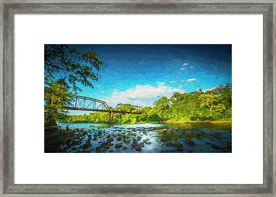Flint River Framed Print