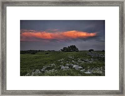 Flinthills Sunset Framed Print