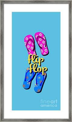 Flip Flop Cell Design Framed Print