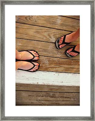 Flip Flops  Framed Print by JAMART Photography