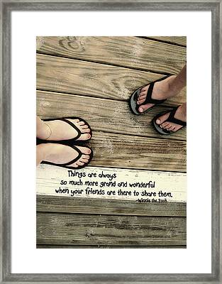 Flip Flops Quote Framed Print by JAMART Photography