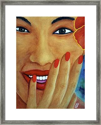 Flirtation #168 Framed Print by Donald k Hall