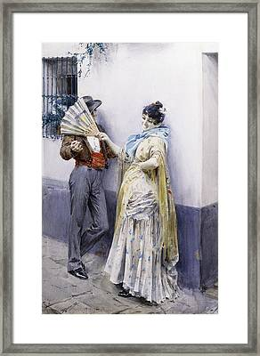 Flirtation Framed Print by Anders Leonard Zorn