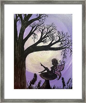 Flirtatious Fairy Framed Print by Connie Kottwitz