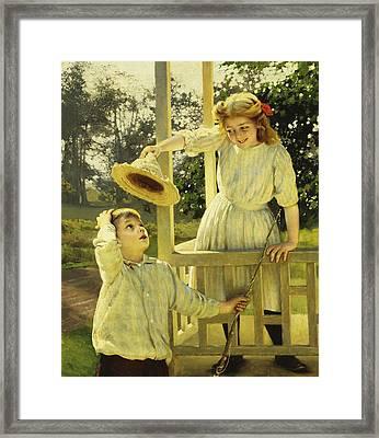 Flirting  Framed Print