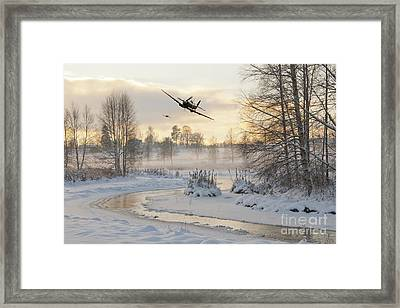 Flirting With The Tree Tops Framed Print by J Biggadike