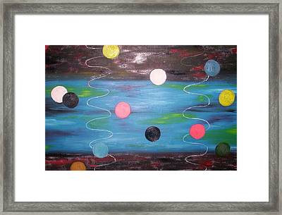 Floaiting Abstract Framed Print by Becca Haney