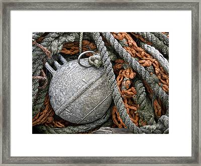 Float And Fishing Nets Framed Print