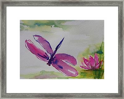 Float Like A Dragonfly Framed Print