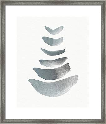Floating 1- Zen Art By Linda Woods Framed Print by Linda Woods