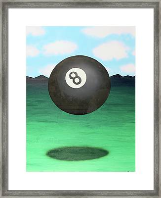 Floating 8 Framed Print