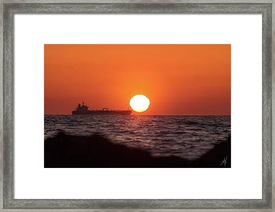 Floating Around The Sun Framed Print
