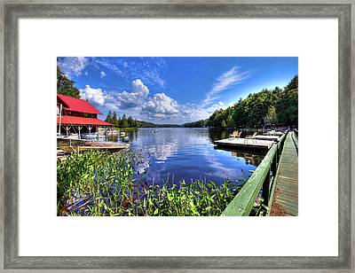 Framed Print featuring the photograph Floating Bridge At Covewood by David Patterson