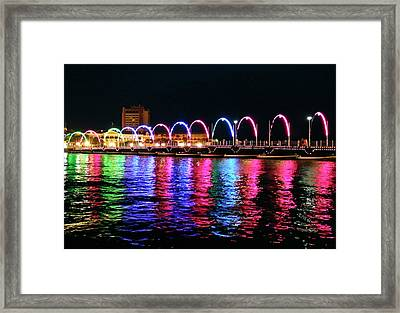 Framed Print featuring the photograph Floating Bridge, Willemstad, Curacao by Kurt Van Wagner
