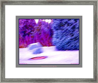 Floating Bush With Shadow  Framed Print by Jane Tripp
