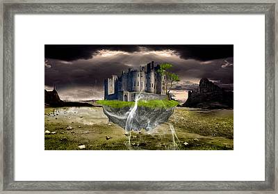 Floating Castle Framed Print by Marvin Blaine