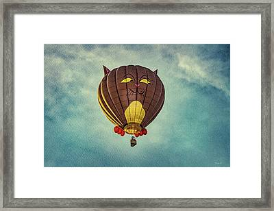 Floating Cat - Hot Air Balloon Framed Print by Bob Orsillo