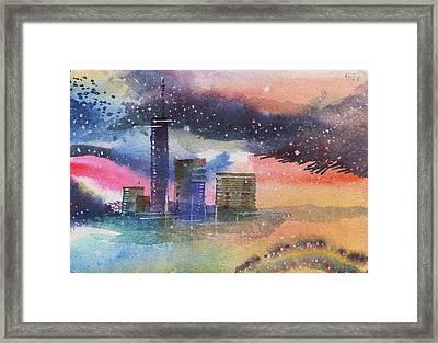 Floating City Framed Print by Anil Nene