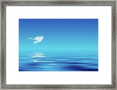 Floating Cloud Framed Print by Wim Lanclus