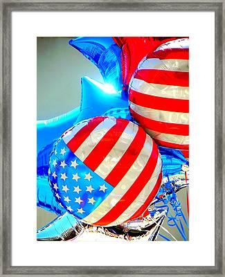 Floating Colors Framed Print