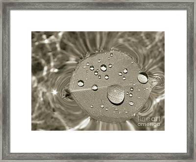 Floating Droplets Framed Print