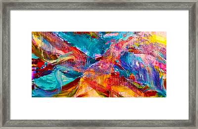 Framed Print featuring the painting Floating Feather Swirls by Claire Bull