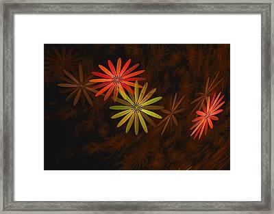 Floating Floral-008 Framed Print