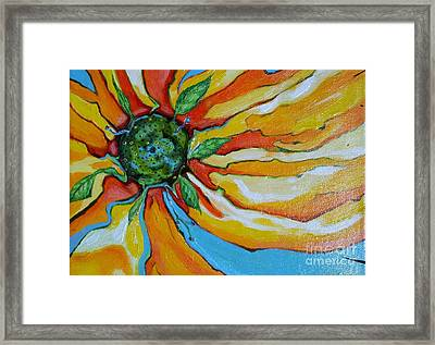 Floating Flower Framed Print