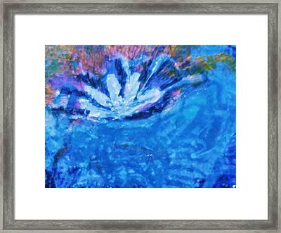 Floating Flower Framed Print by Anne-Elizabeth Whiteway