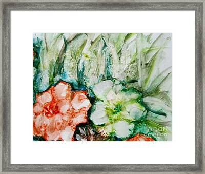 Floating Flowers 3 Framed Print by Laurie Morgan