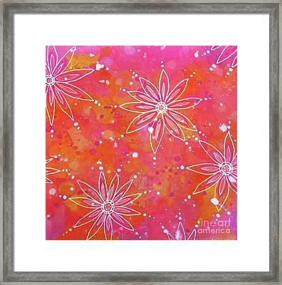 Floating Flowers Framed Print by Desiree Paquette