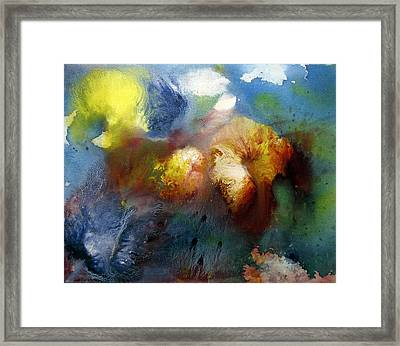 Floating Flowers Framed Print by Sevan Thometz
