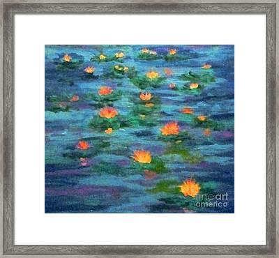 Floating Gems Framed Print by Holly Martinson