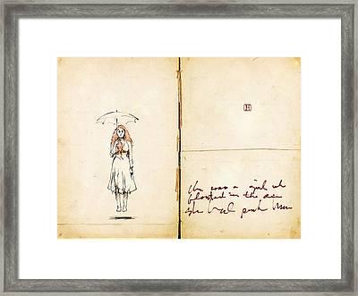 Floating Girl Framed Print by H James Hoff