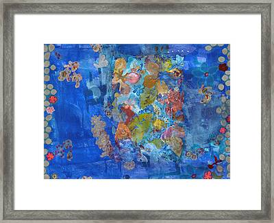 Floating Leaves Framed Print by Gloria Von Sperling