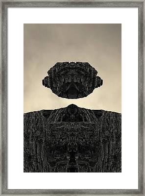 Floating Head I Toned Framed Print by David Gordon